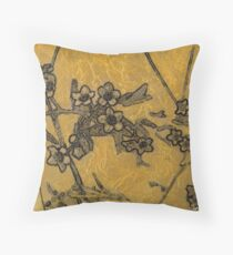 Gold Blossoms 3 Throw Pillow