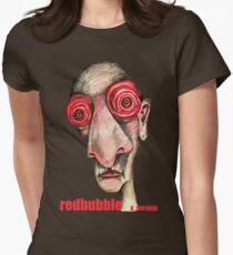 Insomniac w. redbubble logo Womens Fitted T-Shirt