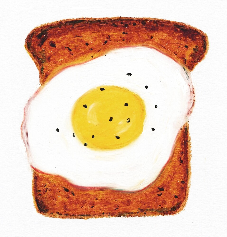 Egg on Toast by allybdesign