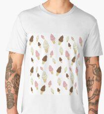 Neapolitan Ice Cream Cones Men's Premium T-Shirt