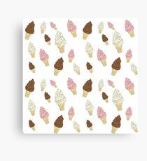 Neapolitan Ice Cream Cones Canvas Print