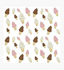 Neapolitan Ice Cream Cones Photographic Print