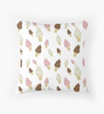 Neapolitan Ice Cream Cones Throw Pillow