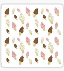 Neapolitan Ice Cream Cones Sticker