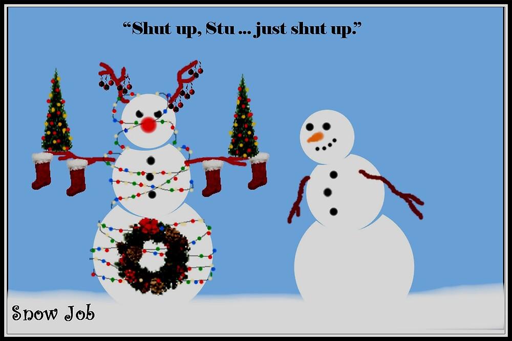 """Snow Job"" - Xmas Decor by ComicMom"