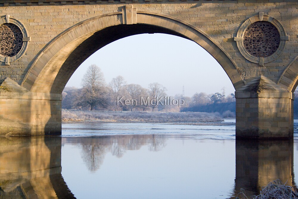 Tweedbridge, Scotland looking into England by Ken McKillop