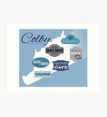 Visit Colby Art Print
