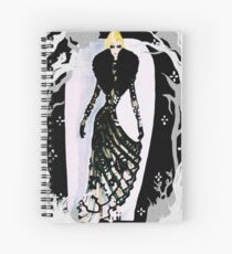 Into The Glamorous Night Spiral Notebook