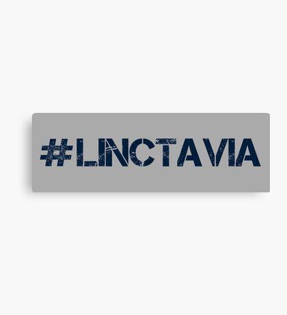 #LINCTAVIA (Navy Text) Canvas Print