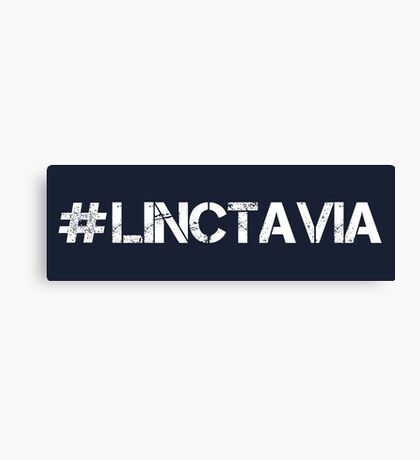 #LINCTAVIA (White Text) Canvas Print