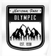 Olympic National Park Washington Badge Poster