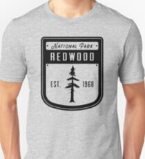 Redwood National Park California Badge Unisex T-Shirt
