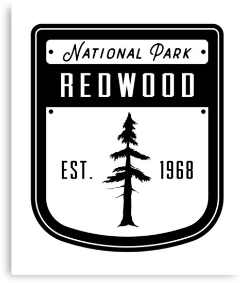 Redwood National Park California Badge by nationalparks