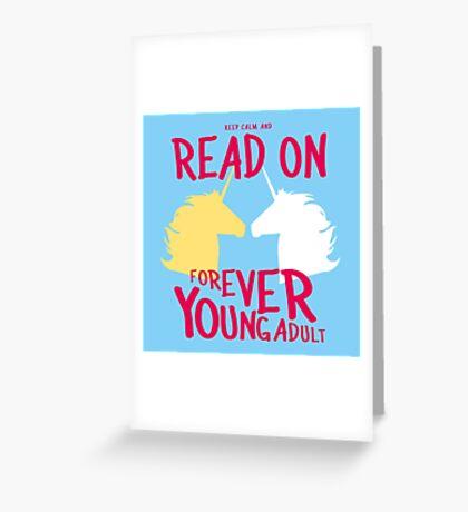 Keep Calm and Read On, FYA Greeting Card