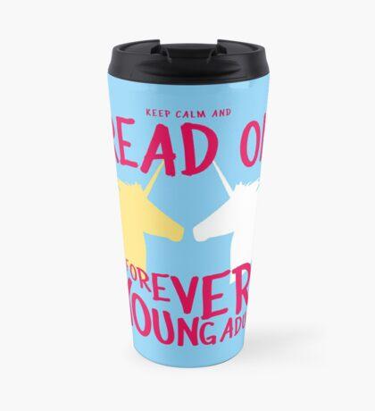 Keep Calm and Read On, FYA Travel Mug
