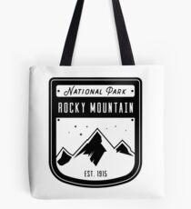 Rocky Mountain National Park Colorado Badge Tote Bag