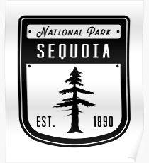Sequoia National Park California Badge Poster