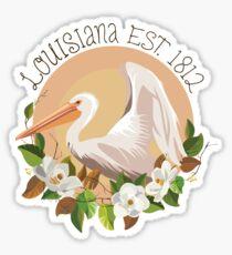 Louisiana Established in 1812 Sticker