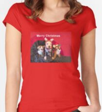 Mee Mee The Blue Nosed Reindeer Women's Fitted Scoop T-Shirt
