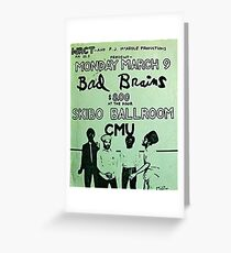 Bad Brains concert poster Greeting Card