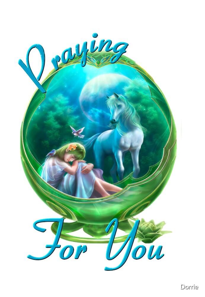 Unicorn Praying by Dorrie