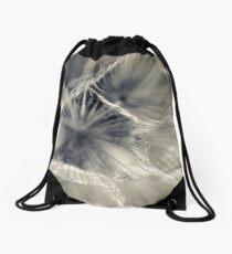 Feathered Drawstring Bag