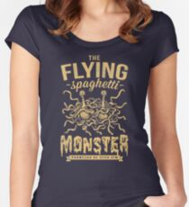 The Flying Spaghetti Monster (dark) Women's Fitted Scoop T-Shirt