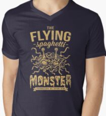 The Flying Spaghetti Monster (dark) Men's V-Neck T-Shirt