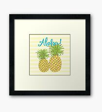 Aloha Pineapple tropical fruit of welcome Hawaii Framed Print