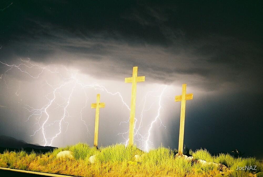Lightning at the Crosses IV by JocNAZ