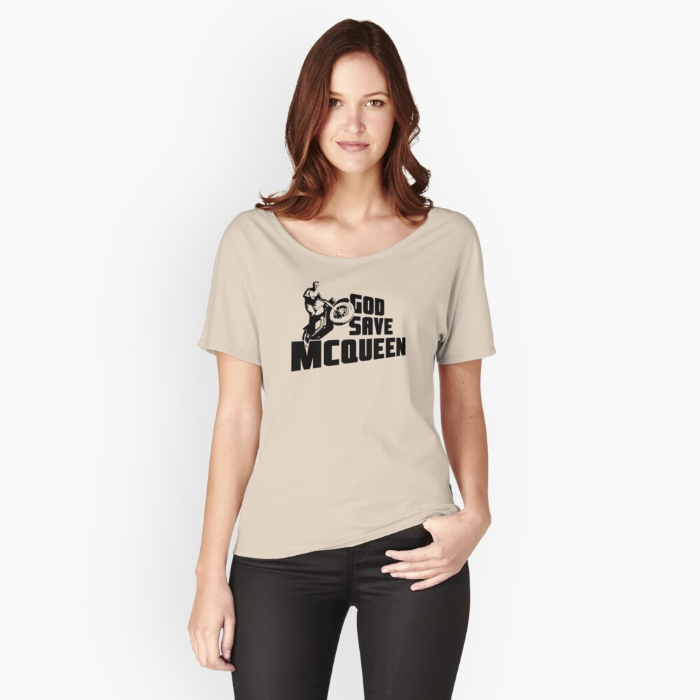God Save McQueen Women's Relaxed Fit T-Shirt Front