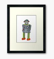 Retro Tin Robot No. 2 Framed Print