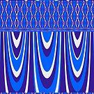 Beautiful Bright Blue Curves by Joy Watson