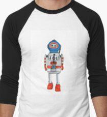 Retro Tin Robot No. 3 Men's Baseball ¾ T-Shirt