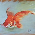Portrait of a Goldfish by Jaana Day