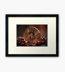 Bitcoin Digital Money Cash Global Currency Framed Print