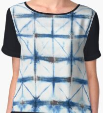 Barbed Wire in Indigo Women's Chiffon Top