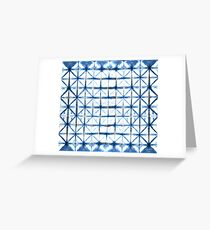 Barbed Wire in Indigo Greeting Card