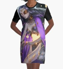 The Moon Graphic T-Shirt Dress