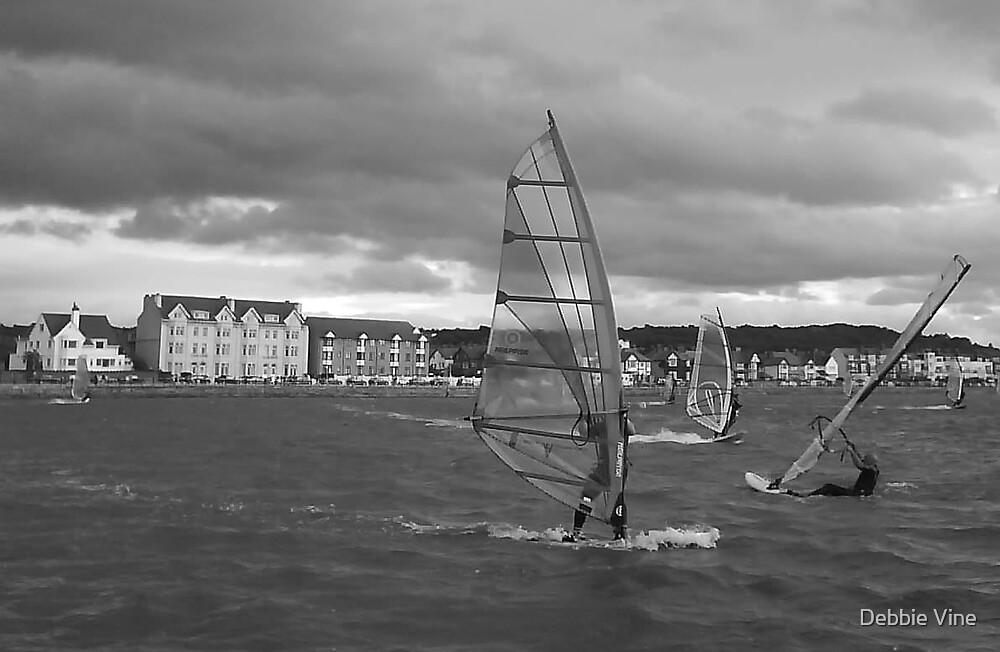 Windsurfers by Debbie Vine