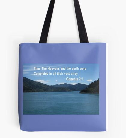 Blue Waters of the Marlborough Sounds /Spiral pattern(4091 Views) Tote Bag