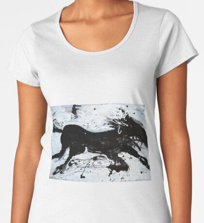Black Horse 2 Women's Premium T-Shirt