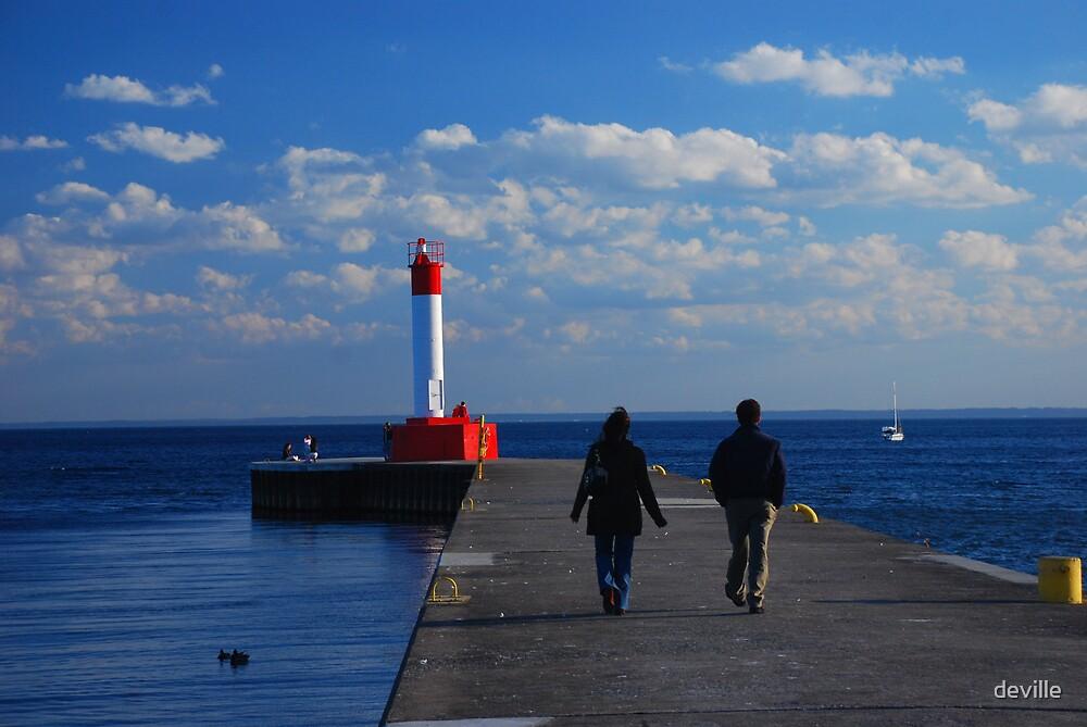walking the pier  by deville