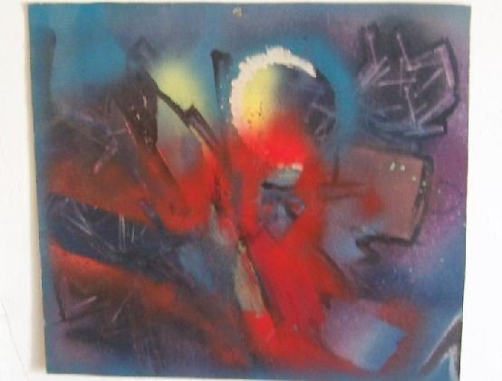 Red triangle 1 by Dave Bradley