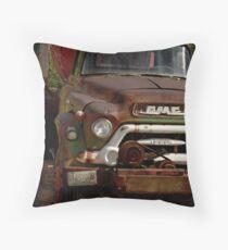 GMC Vintage Cement Truck Throw Pillow
