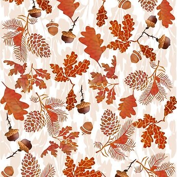 A pattern of acorn,pine cone & Leaves /cornucopia(780  Views) by aldona