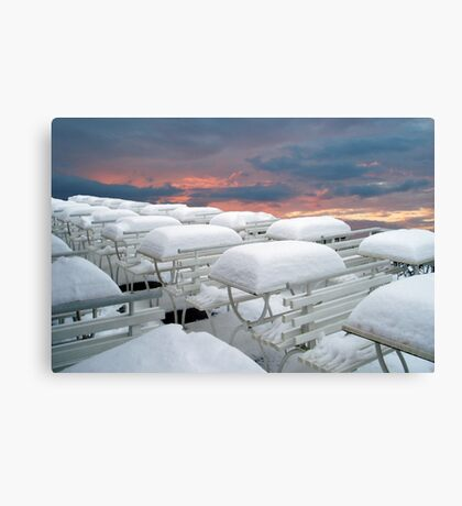 More snow coming  Canvas Print