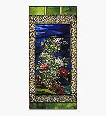 John La Farge - Window Peonies In The Wind Photographic Print