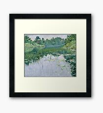 John Leslie Breck - Grey Day On The Charles Framed Print