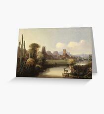 John Mix Stanley - Chain Of Spires Along The Gila River Greeting Card